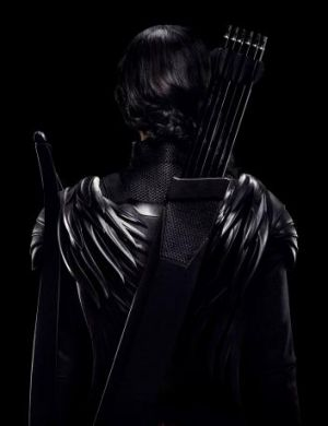 Not as much fun: Only Katniss' Mockingjay uniform gets a special touch.