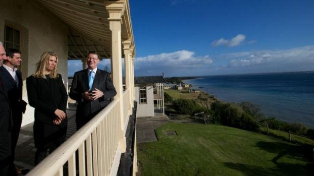 Premier Denis Napthine announces a successful proposal to develop Point Nepean Quarantine station into a hotel and spa ...