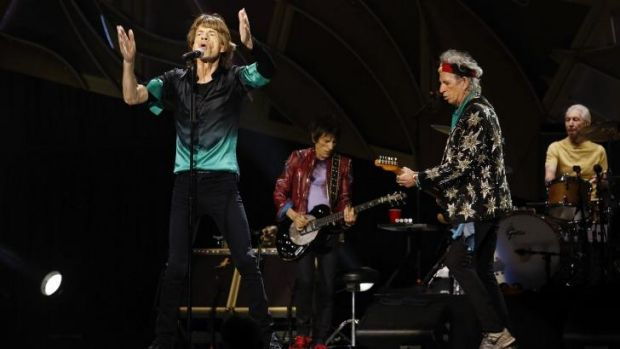 The Rolling Stones in concert at Melbourne's Rod Laver Arena.