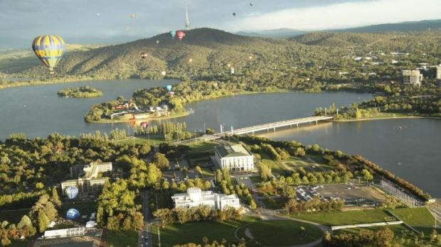 "Deirdre Brocklebank's photo of Lake Burley Griffin: ""It's the focal point. It draws together the whole community."""