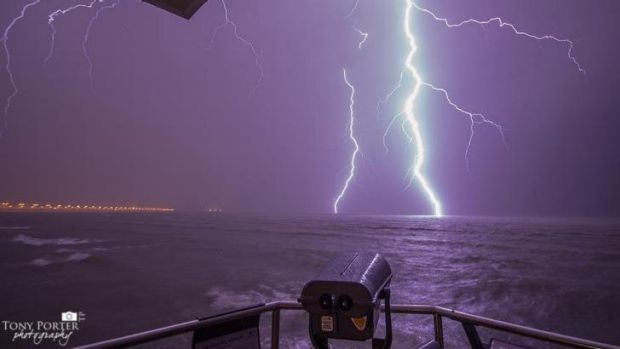 Tony Porter's shot from the Brighton foreshore during electrical storm of November 6.