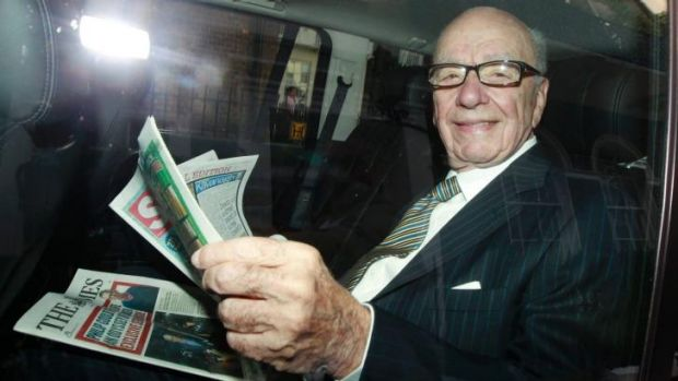 """Rupert Murdoch says News Corp has seen """"tangible improvement"""" in its newspaper business in Australia."""