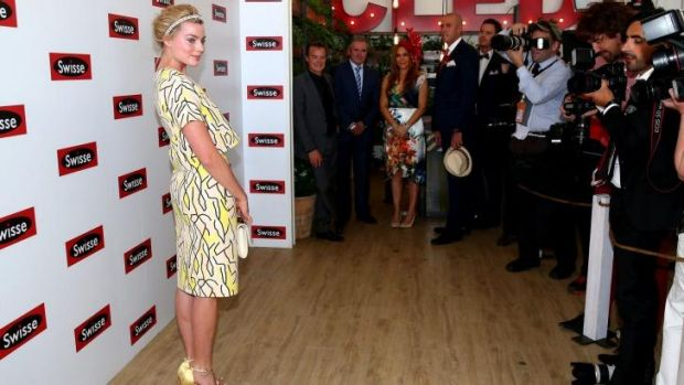 Star attraction: Margot Robbie attends Stakes Day.
