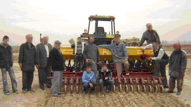 Some of the Iraqi farmers involved in project, pictured in in 2009.