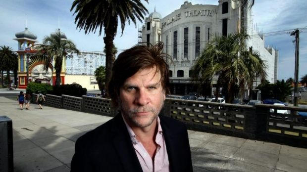 Dark horse: Musician Tex Perkins at the Palais Theatre in St Kilda will be running in the state election.