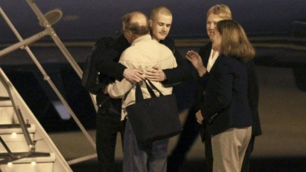 Matthew Miller reunites with his family members after he was freed from North Korea.