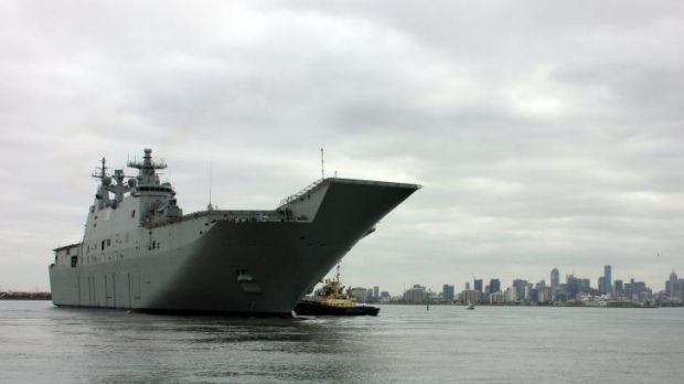 The massive vessel, due to be commissioned into the RAN on November 28, will improve Australia's ability to respond to ...