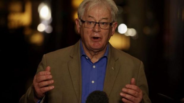 Trade Minister Andrew Robb speaking to the media in Beijing on Sunday.