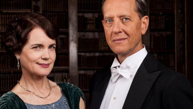 Soft finish: <i>Downton</i> stars Elizabeth McGovern and Richard E. Grant.