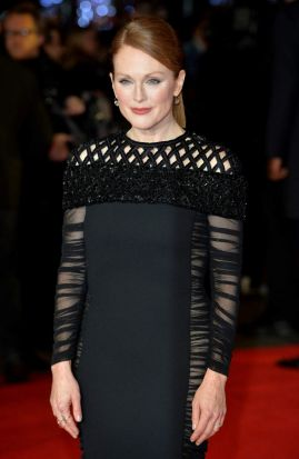 Julianne Moore at the world premiere of <i>The Hunger Games: Mockingjay Part 1</i> at Leicester Square, London.