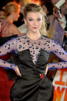 Natalie Dormer at the world premiere of <i>The Hunger Games: Mockingjay Part 1</i> at Leicester Square, London.