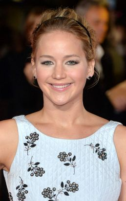Jennifer Lawrence at the world premiere of <i>The Hunger Games: Mockingjay Part 1</i> in Leicester Square, London.