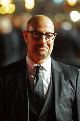 Stanley Tucci at the world premiere of <i>The Hunger Games: Mockingjay Part 1</i> in Leicester Square, London.