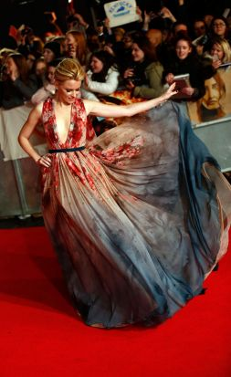 Elizabeth Banks at the world premiere of <i>The Hunger Games: Mockingjay Part 1</i> in Leicester Square, London.