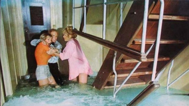 <i>The Poseidon Adventure</i> illustrated the benefits of buoyancy in emergency situations.