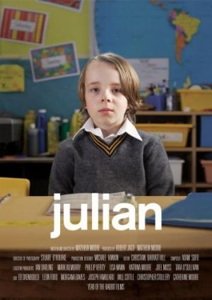 Movie poster for the Flickerfest-winning short film <i>Julian</i>.