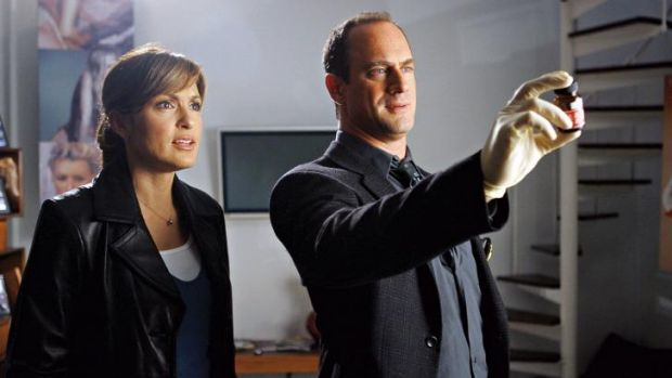 Camaraderie: Olivia Benson (Mariska Hargity) and Elliot Stabler (Christopher Meloni) in Law & Order: Special Victims Unit.