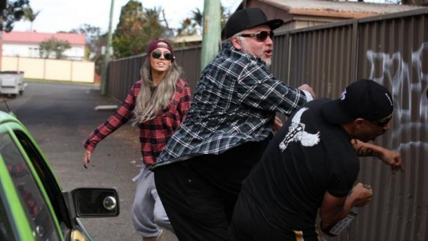Kyle Sandilands swings into a new career in <i>Fat Pizza vs Housos</i>.