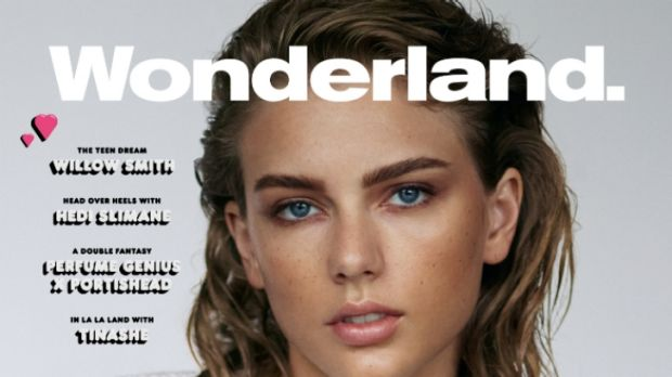A very different Taylor Swift on <i>Wonderland's</i> December edition cover.