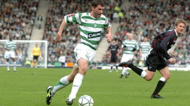 Corker: Roy Keane playing for Glasgow Celtic.
