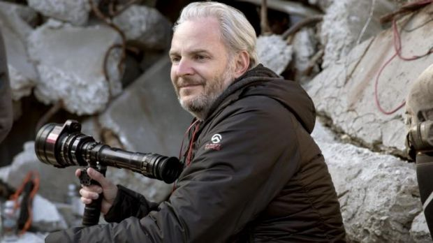 On set: Francis Lawrence, the director of the second part of <i>The Hunger Games.</i>