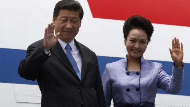 Celebrity leader: China's President Xi Jinping and his wife Peng Liyuan.
