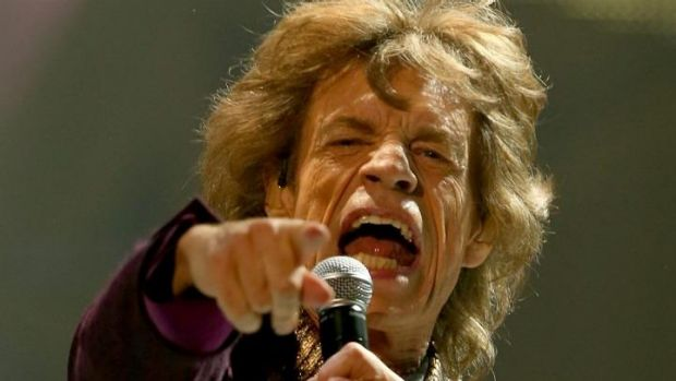 Mick Jagger of The Rolling Stones performs in Perth.