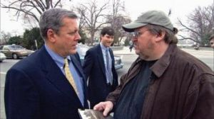 Inflammatory: Michael Moore's anti-Bush documentary, <i>Fahrenheit 9/11</i>, came out in 2004.