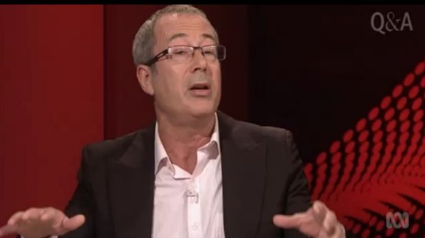 Malcolm Turnbull fan: Ben Elton on Monday night's Q&A.