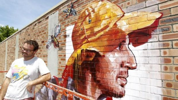 """""""It's the first mural of its kind in the area"""": Fintan Magee."""