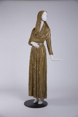 A costume worn by Susan Hayward (Smash-Up: The Story of a Woman, directed by Stuart Heisler, 1947. Designer: Travis ...