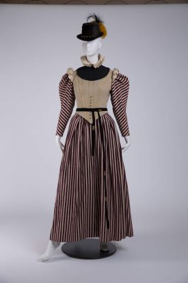 A costume worn by Bette Davis (The Virgin Queen, directed by Henry Koster, 1955. Designer: Mary Wills) that is part of ...