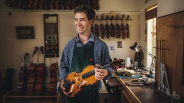 Violin maker Hugh Withycombe