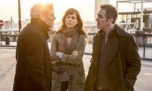 Tension: Frances O'Connor and James Nesbitt (right) in a scene from The Missing.
