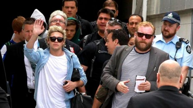 Niall Horan from One Direction arrives in Sydney.