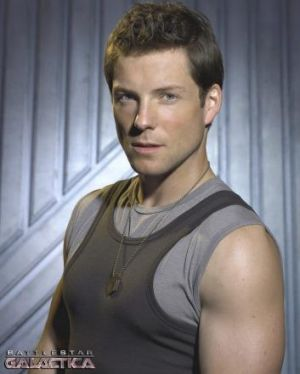 "Jamie Bamber as Lee ""Apollo"" Adama."