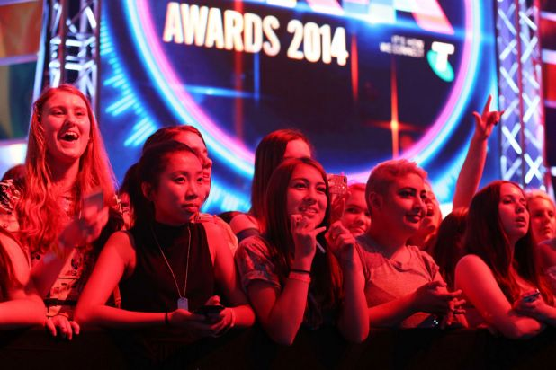 Fans look on during the ARIA Awards.