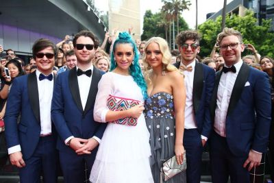 Sheppard arrive at the ARIA Awards 2014.
