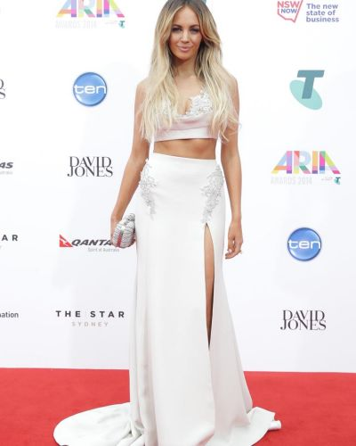 Samantha Jade arrives at the ARIA Awards 2014.