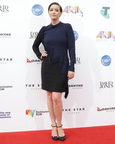 Megan Washington arrives at the ARIA Awards 2014.
