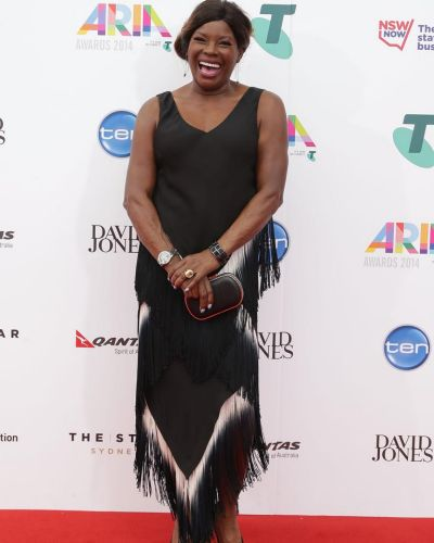 Marcia Hines arrives at the ARIA Awards 2014.