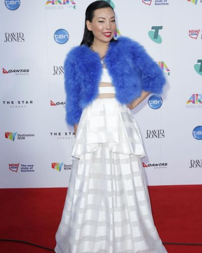Dami Im arrives at the ARIA Awards 2014.