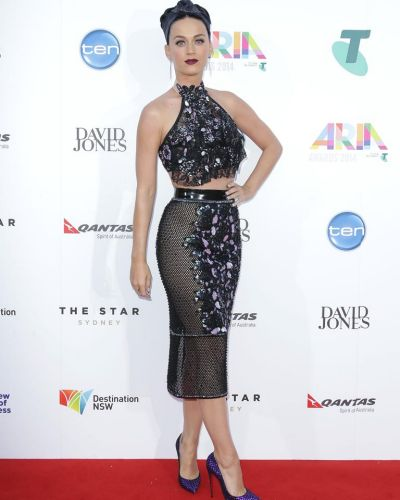 Katy Perry arrives at the ARIA Awards 2014.