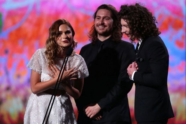 Peking Duk accept the ARIA for best dance release.