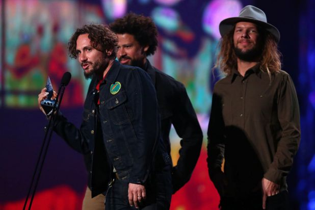 John Butler Trio win the ARIA for best blues and roots album.