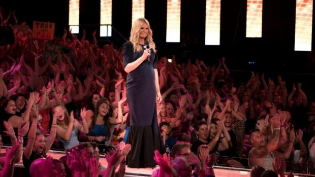A rollercoaster of emotions: Host Sonia Kruger welled up.