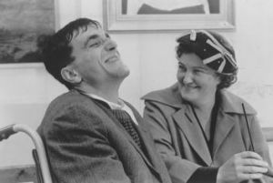 Confined to a wheelchair: Daniel Day-Lewis as  Christy Brown, with Brenda Fricker,  in <i>My Left Foot</i>.