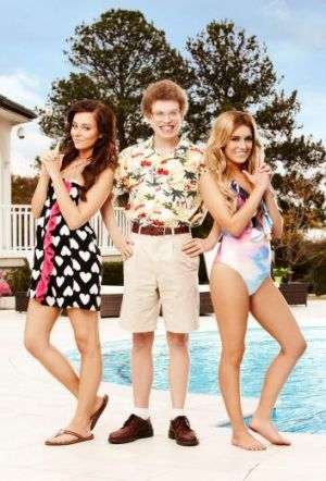 In earlier times: Nick with Chrystal and Nicole.