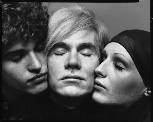 Andy Warhol, artist, Candy Darling and Jay Johnson, actors, New York, August 20, 1969: Pop art star artist Andy Warhol ...