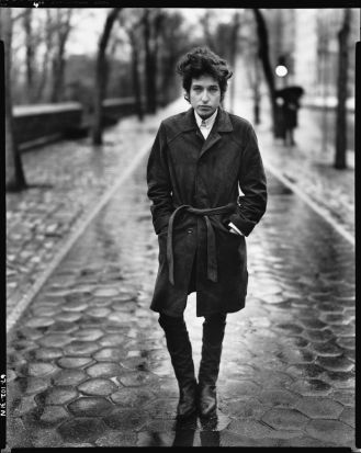 Bob Dylan, musician, Central Park, New York, February 20, 1965: Avedon photographed Dylan on numerous occasions, often ...